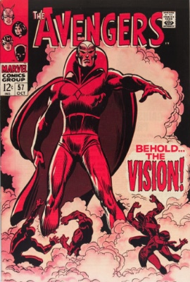 Silver Age version of The Vision first appeared in the now-hot comic Avengers #57. Click for value