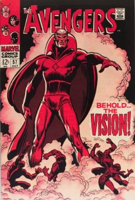 First Appearance, The Vision, The Avengers #57, Marvel Comics, 1968. Click for value