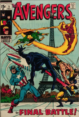 Avengers #71: 1st Appearance of the Invaders. Click for values