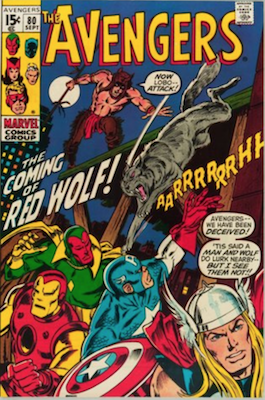 Avengers #80: 1st Appearance of Red Wolf. Click for values