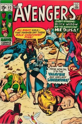 Avengers Comics #83: 1st Lady Liberators. Click for value