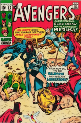 Wasp Marvel Comics: Avengers #83, 1st Appearance of Liberators (Wasp, Valkrye, Scarlet Witch, Black Widow, Medusa. Click for values
