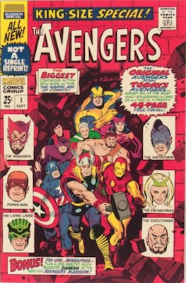 Avengers Annual #1: Original and New Avengers Team Up. Click for value