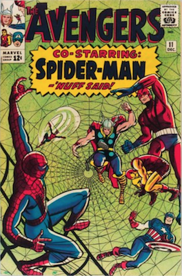 Avengers comic #11: Spider-Man cover and story. Click for values