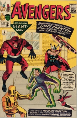 Origin and First Appearance, Space Phantom, Avengers #2, Marvel Comics, 1963. Click for value