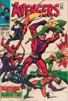 Origin and First Appearance, Ultron, Avengers #55, Marvel Comics, 1968. Click for value