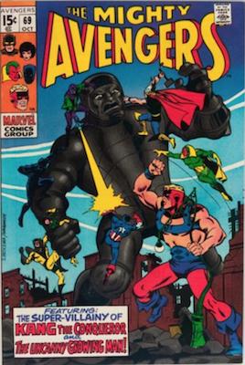 Avengers Comics #69: 1st Squadron Sinister. Click for value