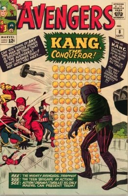Origin and First Appearance, Kang the Conqueror, Avengers #8, Marvel Comics, 1964. Click for value