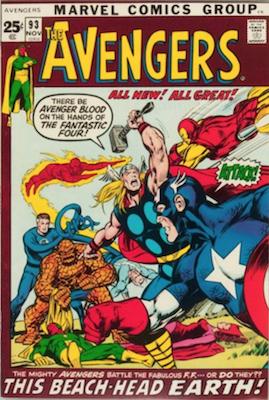 Avengers #93: Kree-Skrull war begins. Click for values