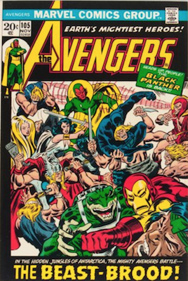 Avengers Comics #105: Black Panther Rejoins Team. Click for value