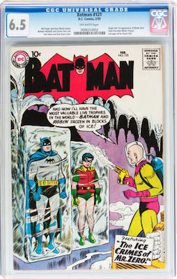 When choosing your copy of Batman #121, consider that there is little price difference between a CGC 5.0 and 6.5. Click to buy your copy