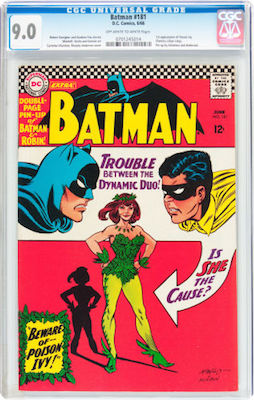 A clean CGC 9.0 copy of Batman #181 will be a great investment. Lower grade copies are common. In this shape, it's an easy sell later. Click to buy a copy