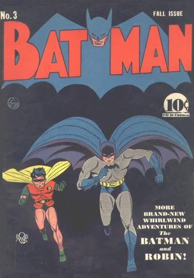 Batman #3 (1940). Another RARE early comic book featuring the Caped Crusader!