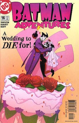 Batman Adventures v2 #16 (2004) Classic Joker and Harley Quinn Wedding Cover. Click for values