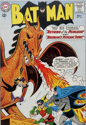 Batman #155 May, 1963: First Penguin Appearance in the Silver Age. Click for value