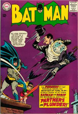 Batman #169, February, 1965: More Umbrellas, another Penguin cover. Click for value