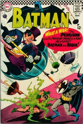 Batman #190, March, 1967: Penguin Takes a Flyer. Click for value