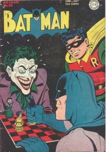 Batman #23, early Joker cover with Chess theme