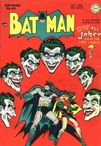 Batman #40, classic Joker cover with multiple Jokers