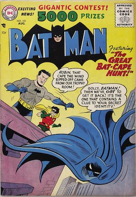 Click to see values for Batman comic #101-200