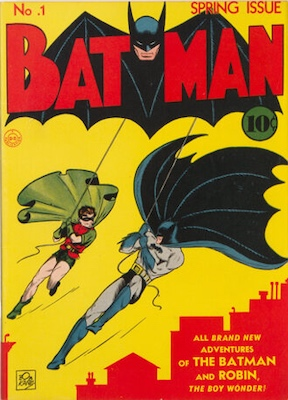 Origin and First Appearance, Joker, Batman #1, DC Comics, 1940. Classic cover and very collectible! Click for value