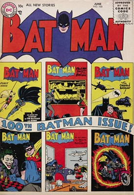Batman #100, June 1956. Milestone issue! Click for value