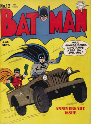 Batman #12, August 1942; First Appearance, the Batcave. Click for value
