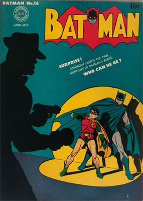 Batman #16, April 1943; First Appearance, Alfred Pennyworth. Click for value