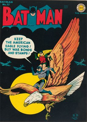 Batman #17, June 1943. Cool eagle cover. Click for value