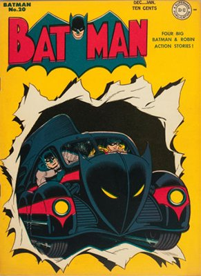Batman #20, December 1943; First Batmobile Cover Appearance. Click for value