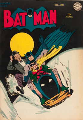 Batman #26. Bat Sled cover (!!). Click for value