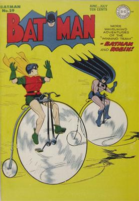 Batman #29, June 1945. Bat Penny Farthing. Click for value