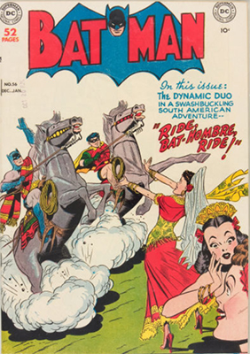 Batman #56. Batman and Robin in South America. Click for value