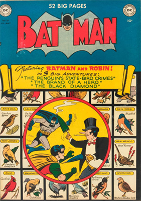Batman #58, classic Penguin cover. Click for value