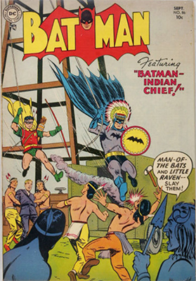 Batman #86, September 1954. Native American cover theme. Click for value