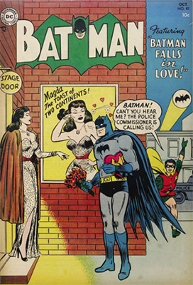 Batman #87, October 1954. Headlights cover. Click for values