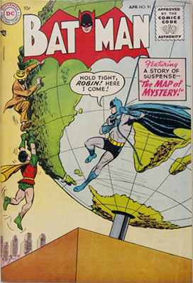 Batman #91, April 1955. Click for value
