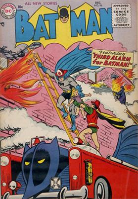 Batman #96, December 1955. First Silver Age Batman appearance? Click for value