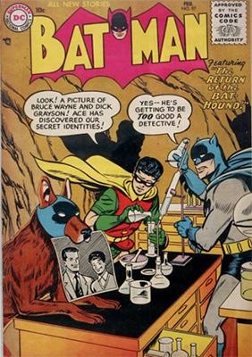 Batman #97, February 1955. Click for value