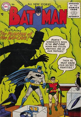 Batman #99, April 1956. Phantom of the Bat-Cave. Click to see value