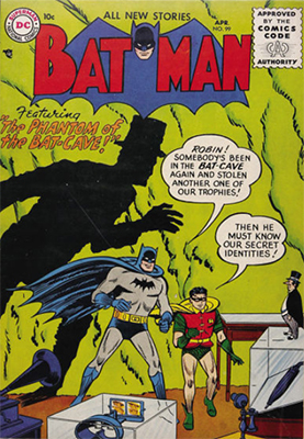 Batman #99, April 1956. Phantom of the Bat-Cave. Click to see value