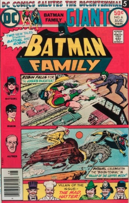 Origin and First Appearance, Duela Dent, Batman Family #6, DC Comics, 1976. Click for value