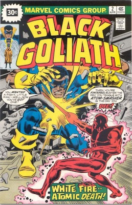 Black Goliath #2 30c Price Variant April, 1976. Starburst Blurb