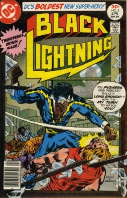 Origin and First Appearance, Black Lightning, Black Lightning #1, DC Comics, 1977. Click for value