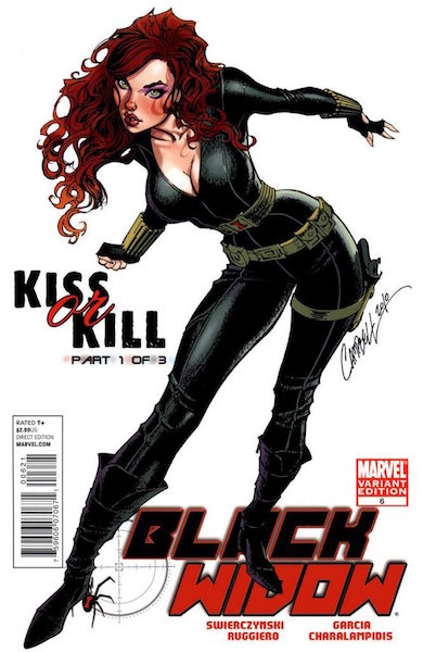 #57: Black Widow 6 Campbell Variant (2010). Click for values
