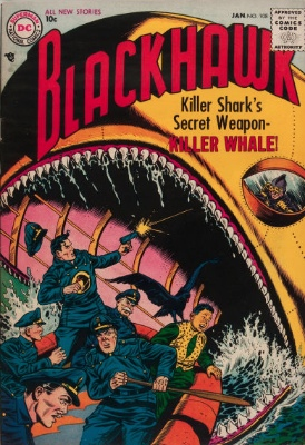 Origin and First Appearance, Blackhawk, Blackhawk #108, DC Comics, 1957. Click for value