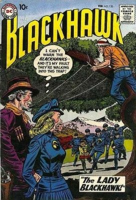 Origin and First Appearance, Lady Blackhawk, Blackhawk #133, DC Comics, 1959. Click for value