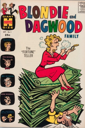 Blondie and Dagwood Family #1. Click for values