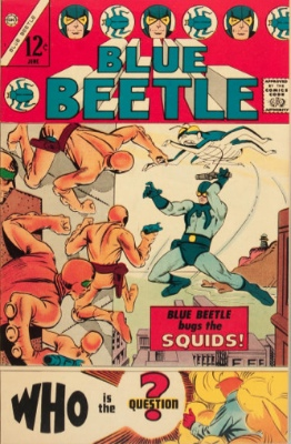 Origin and First Appearance, Question, Blue Beetle #1, Charlton Comics, 1967. Click for value
