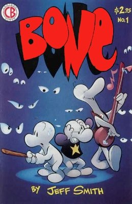 Bone #1 (1991): First issue. Very collectible. Click for values